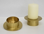 Brass Pillar Base/Pedastol - Case pack: 6